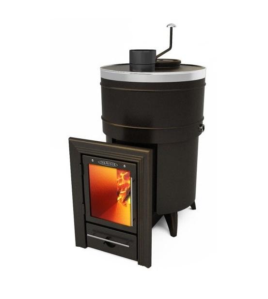 Банная печь Скоропарка 2012 Inox Люмина черная бронза